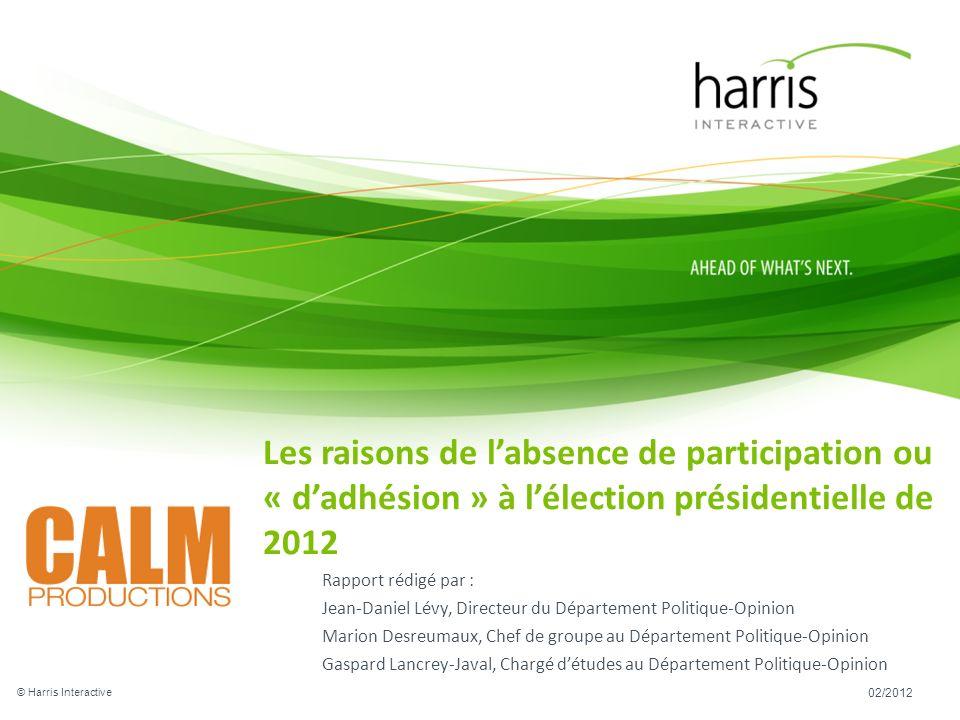 Rapport rédigé par : Jean-Daniel Lévy, Directeur du Département Politique-Opinion Marion Desreumaux, Chef de groupe au Département Politique-Opinion G