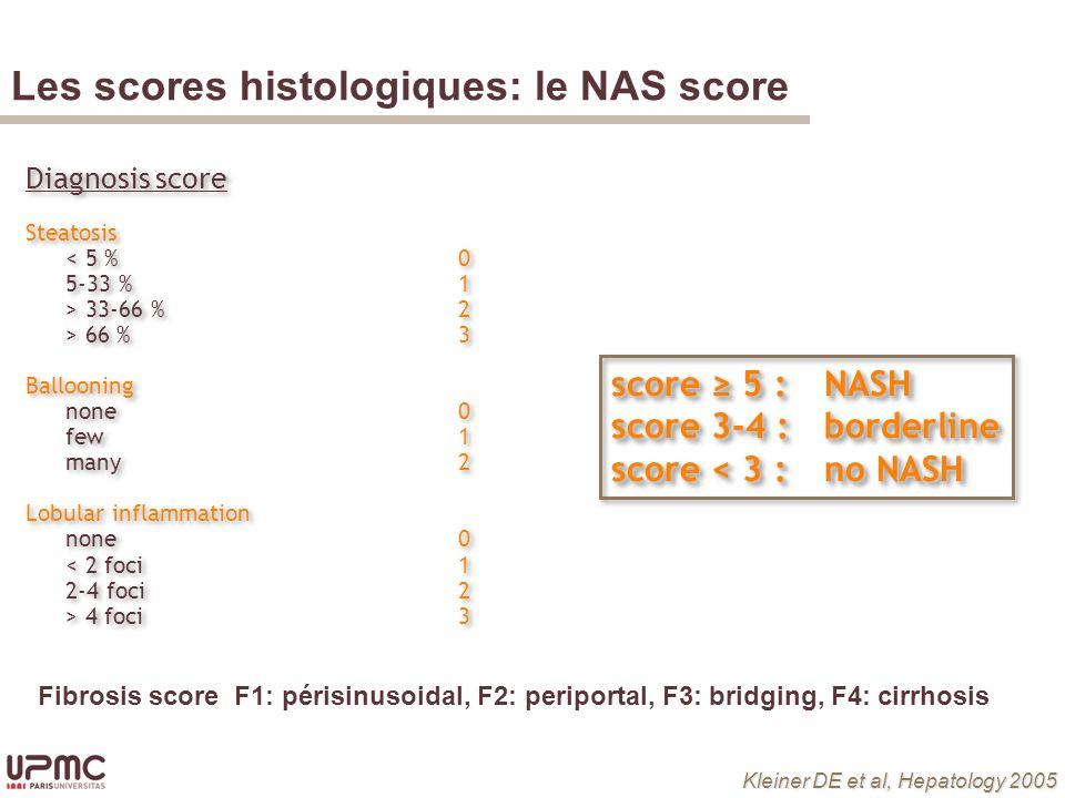 Bedossa P et al, Hepatology 2012 Les scores histologique: le SAF score