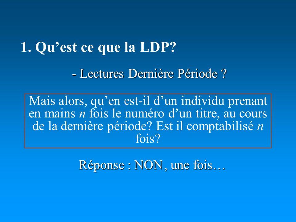 - Lectures Dernière Période .