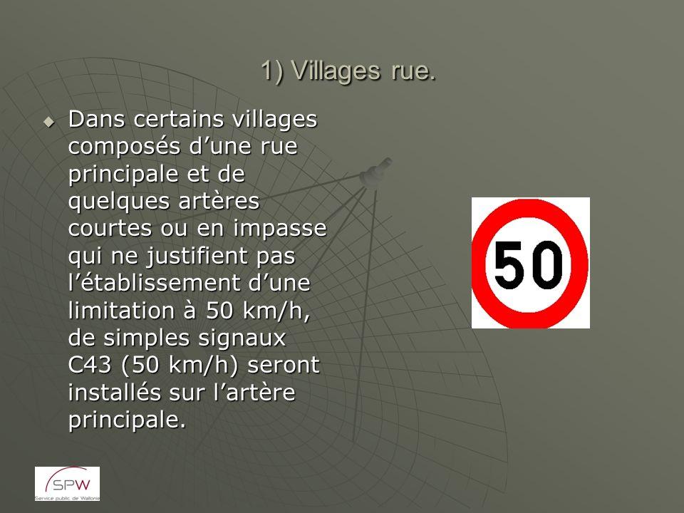 1) Villages rue. 1) Villages rue. Dans certains villages composés dune rue principale et de quelques artères courtes ou en impasse qui ne justifient p