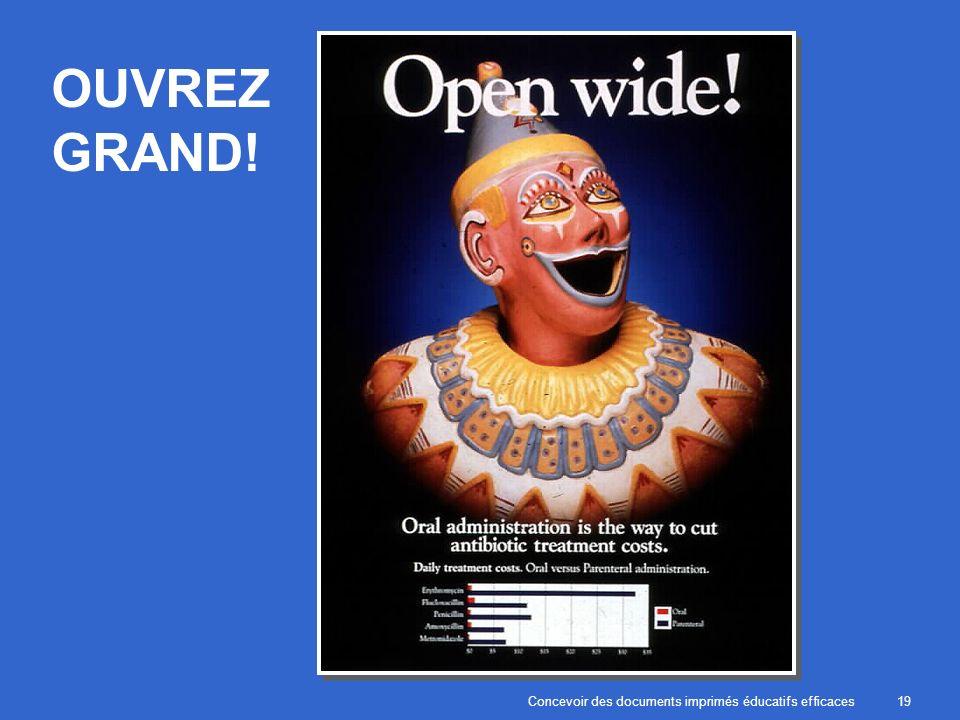 Concevoir des documents imprimés éducatifs efficaces19 OUVREZ GRAND!