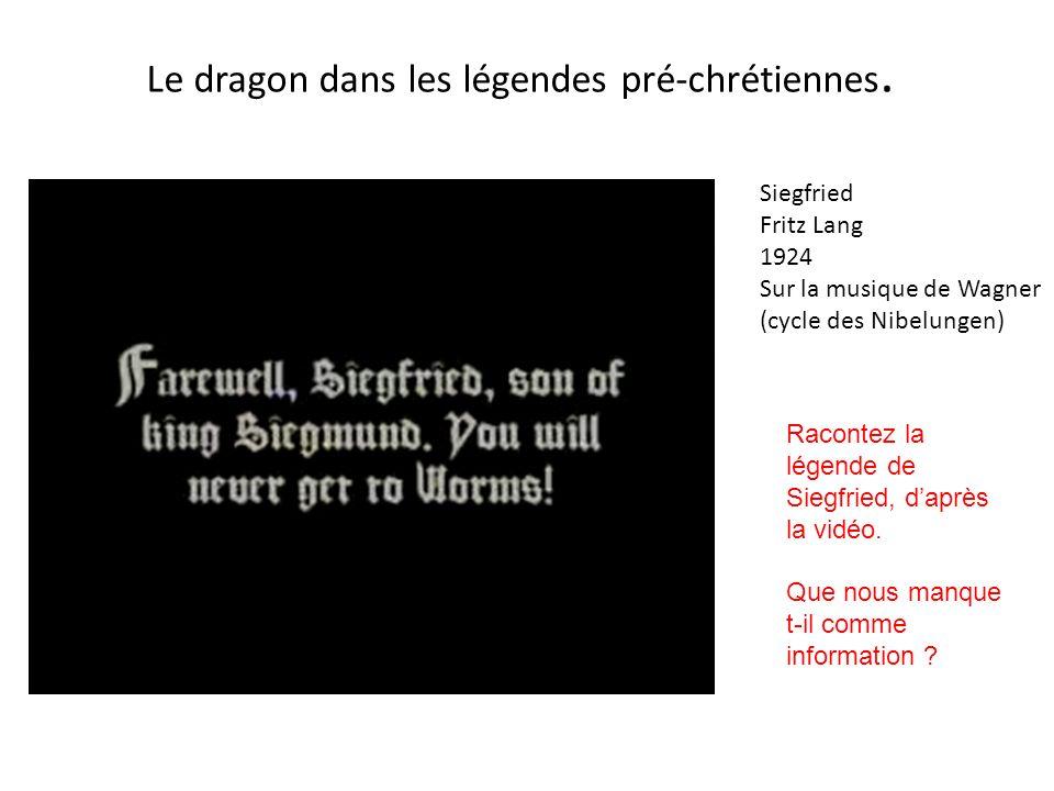 Le dragon dans les légendes pré-chrétiennes.