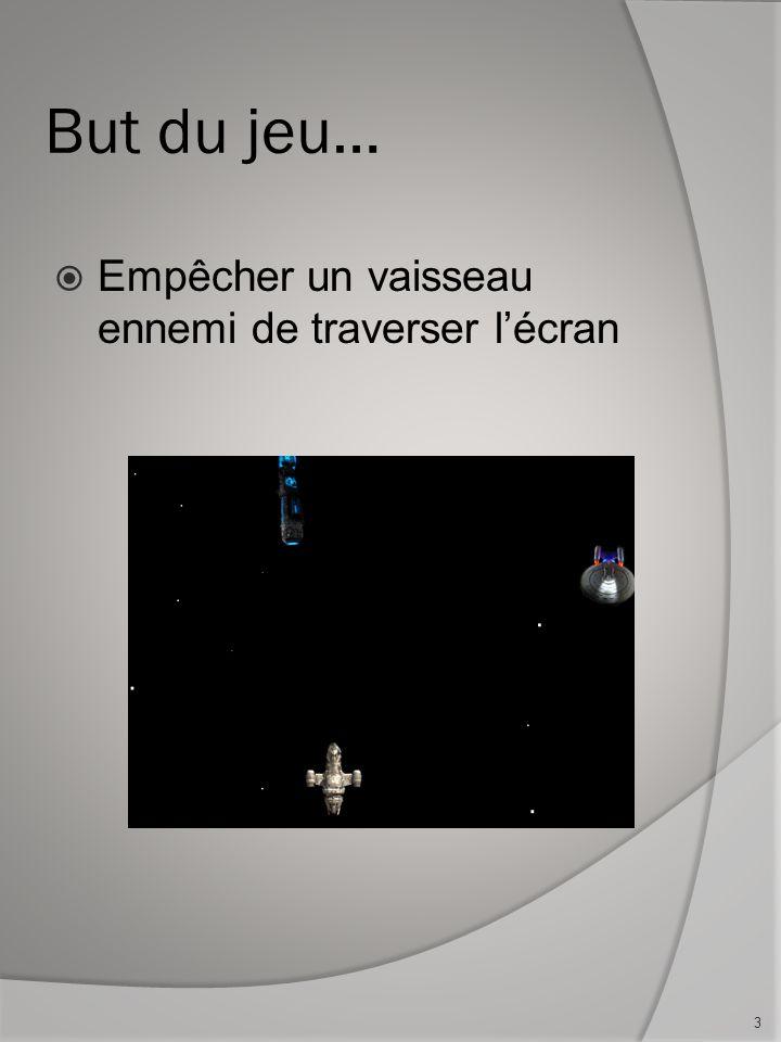 But du jeu… Empêcher un vaisseau ennemi de traverser lécran 3