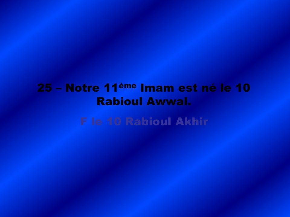 F le 10 Rabioul Akhir