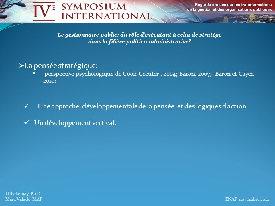 Lilly Lemay, Ph.D.Marc Valade, MAP ENAP, novembre 2012 PenséeStade / logique dactionFocus % pop.