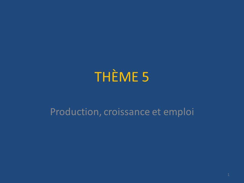 THÈME 5 Production, croissance et emploi 1