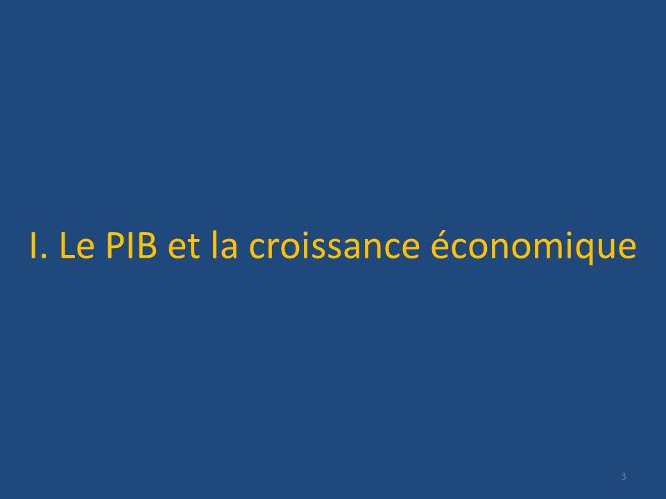I. Le PIB et la croissance économique 3