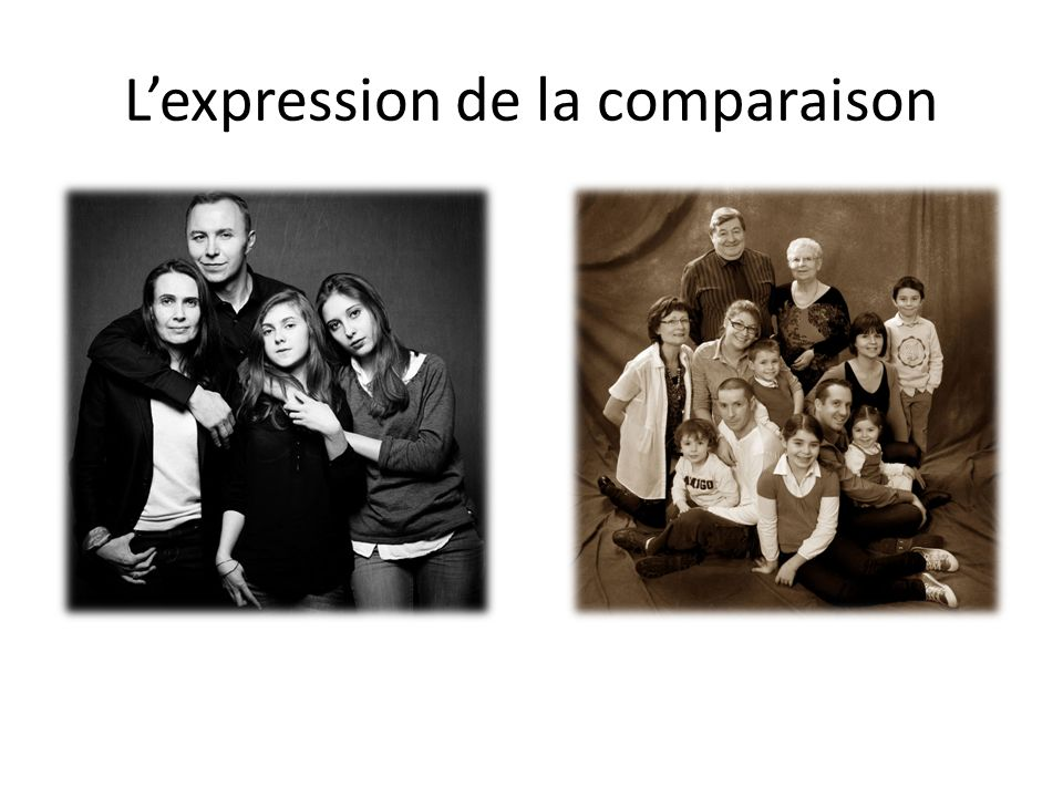 Lexpression de la comparaison