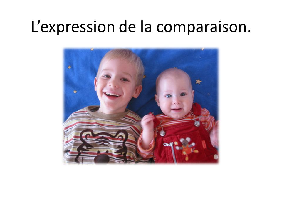Lexpression de la comparaison.