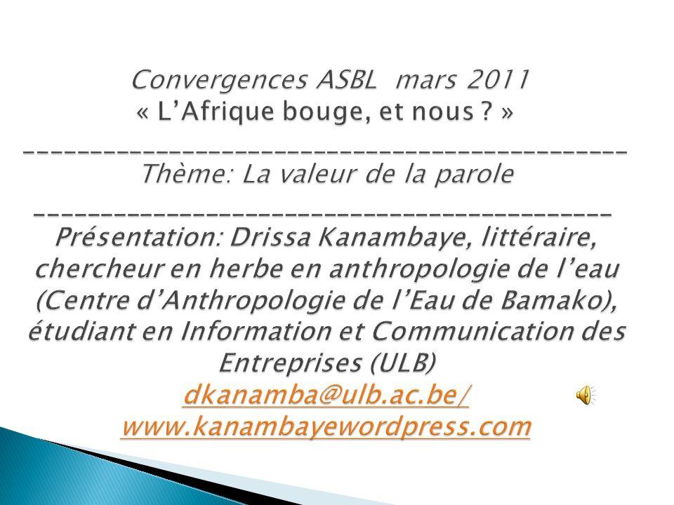 Convergences ASBL mars 2011 « LAfrique bouge, et nous .