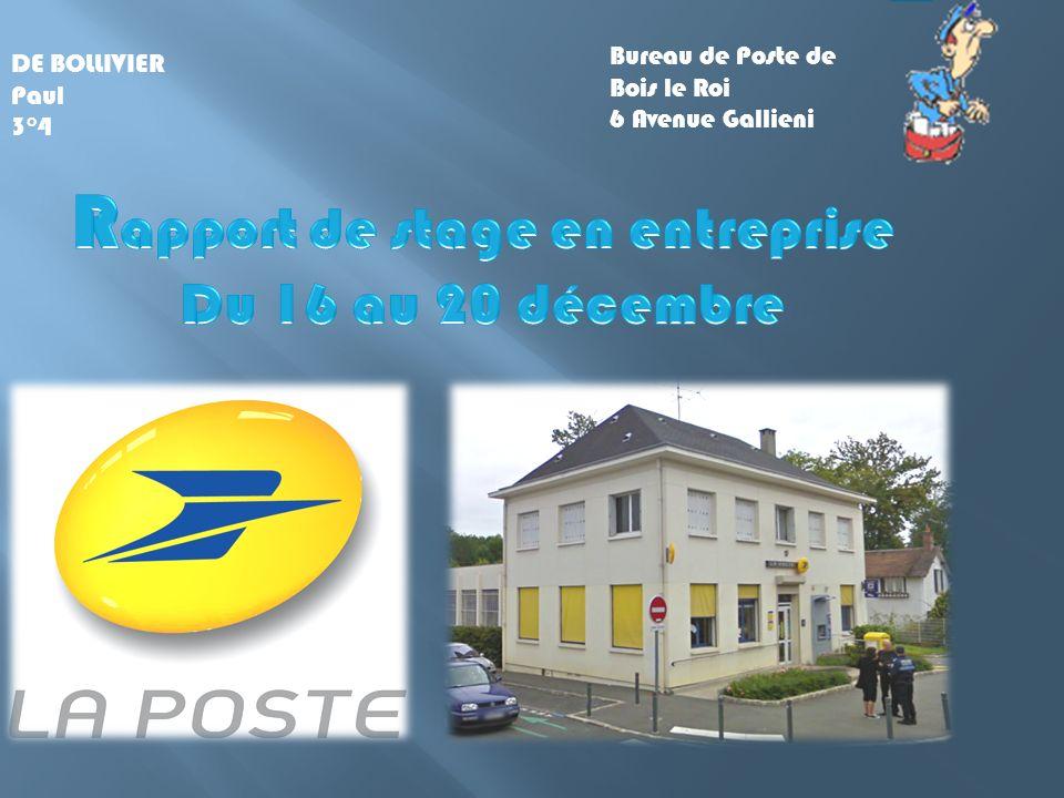 DE BOLLIVIER Paul 3°4 Bureau de Poste de Bois le Roi 6 Avenue Gallieni