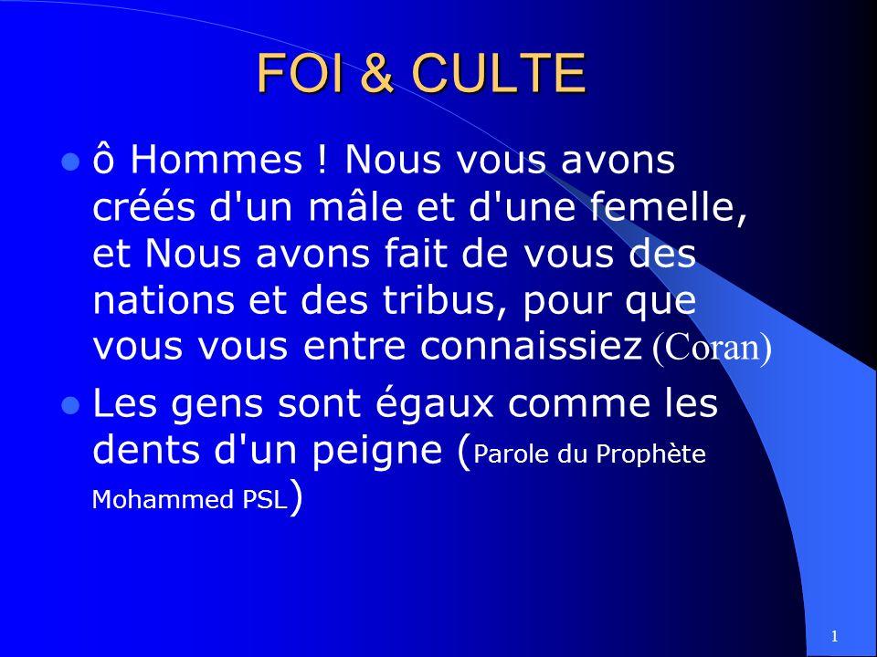1 FOI & CULTE ô Hommes .