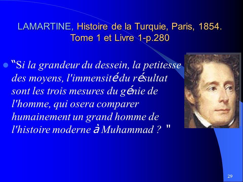 29 LAMARTINE, LAMARTINE, Histoire de la Turquie, Paris, 1854.