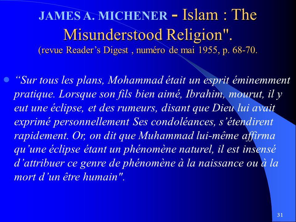 31 - Islam : The Misunderstood Religion .JAMES A.