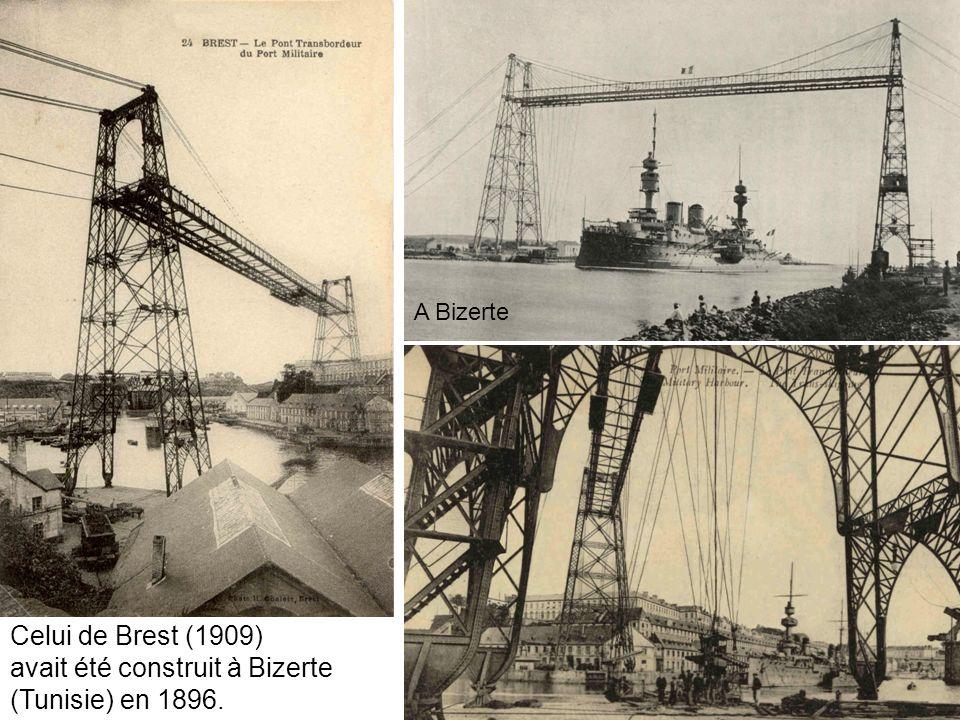 Celui de Brest (1909) avait été construit à Bizerte (Tunisie) en 1896. A Bizerte