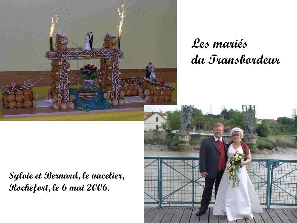 Les mariés du Transbordeur Sylvie et Bernard, le nacelier, Rochefort, le 6 mai 2006.