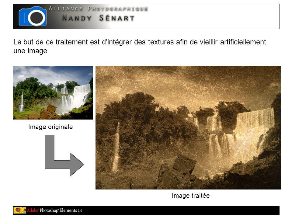 Le but de ce traitement est dintégrer des textures afin de vieillir artificiellement une image Image traitée Image originale