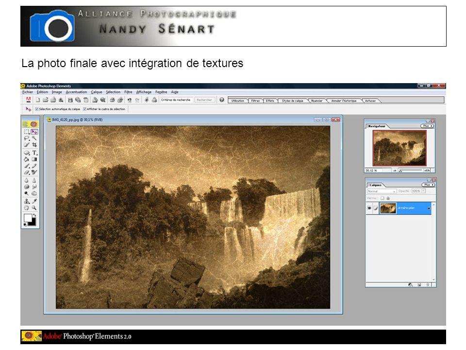 La photo finale avec intégration de textures