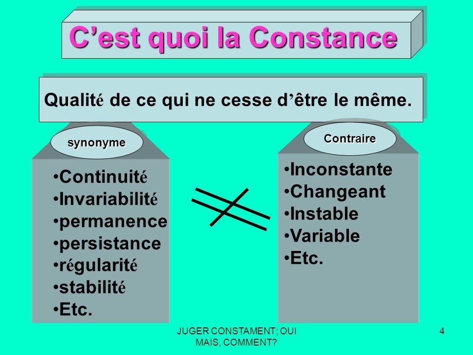 JUGER CONSTAMENT; OUI MAIS, COMMENT.34 Aspect de larbitre.