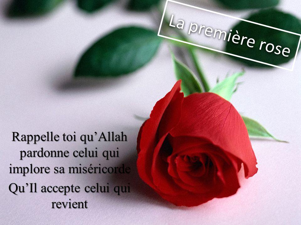 La première rose Rappelle toi quAllah pardonne celui qui implore sa miséricorde QuIl accepte celui qui revient