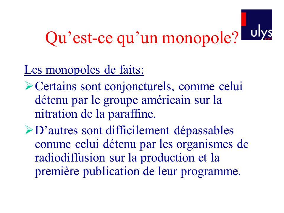 Quest-ce quun monopole.