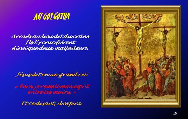 Ils lemmenèrent pour être crucifié. Le chemin de croix 9
