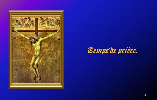 Au Golgotha Arrivés au lieu dit du crâne Ils ly crucifièrent Ainsi que deux malfaiteurs.