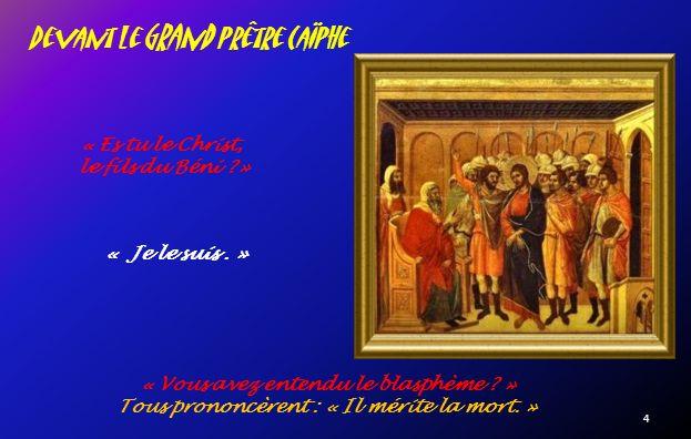 Judas livre Jésus « Celui que jembrasserai Cest lui.