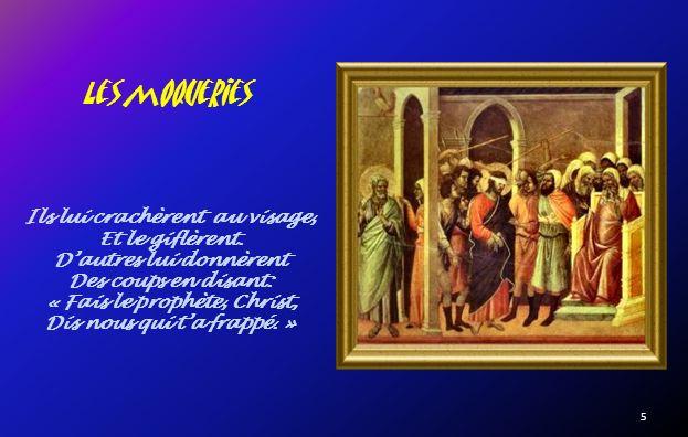 Devant le Grand prêtre Caïphe « Es tu le Christ, le fils du Béni ?» « Je le suis.