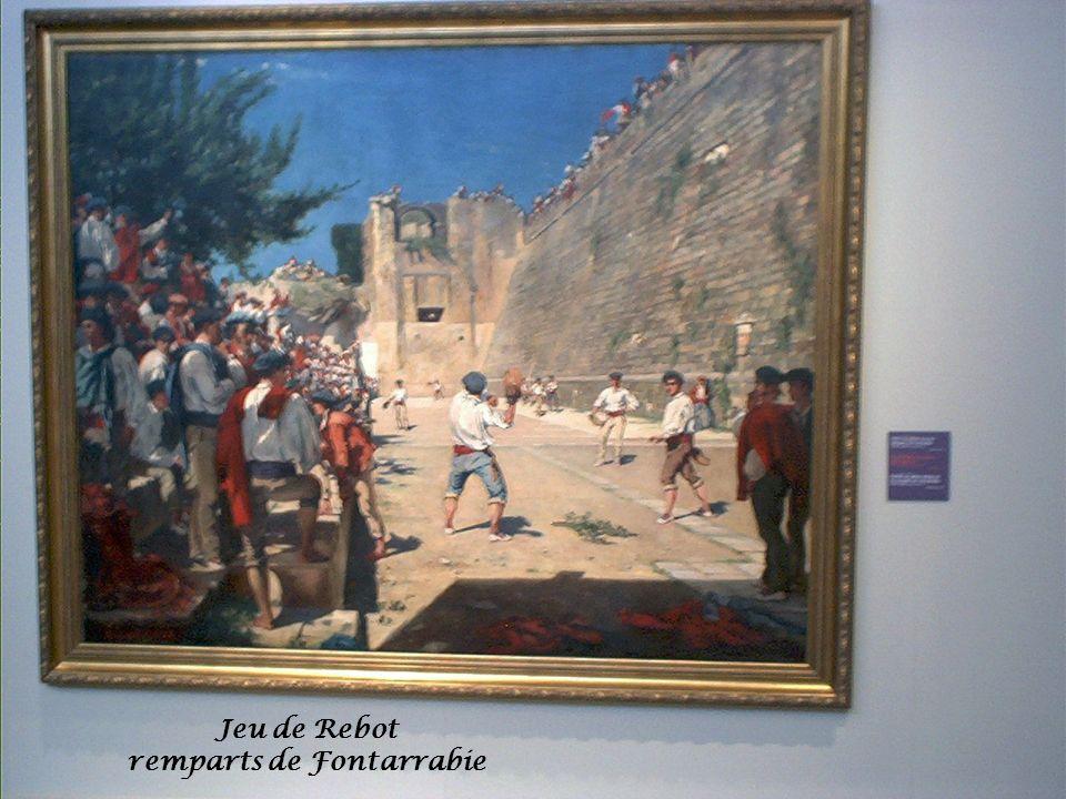 Jeu de Rebot remparts de Fontarrabie