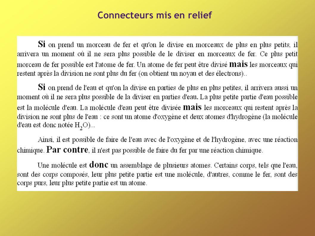Connecteurs mis en relief