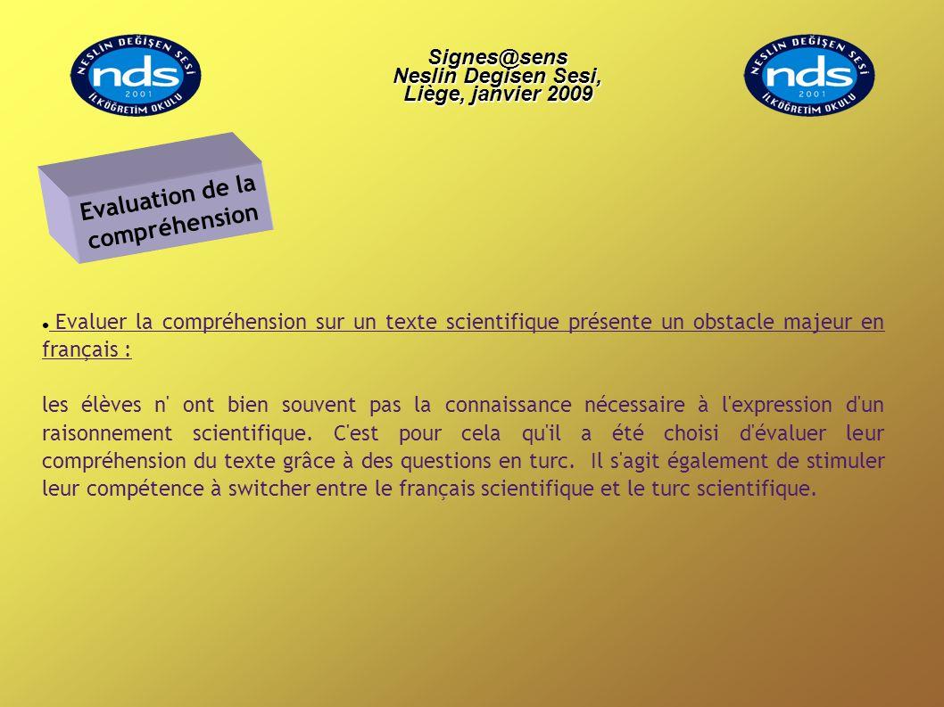 Evaluer la compréhension sur un texte scientifique présente un obstacle majeur en français : les élèves n' ont bien souvent pas la connaissance nécess