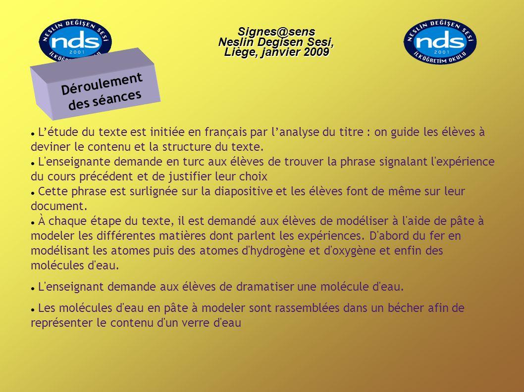 Létude du texte est initiée en français par lanalyse du titre : on guide les élèves à deviner le contenu et la structure du texte. L'enseignante deman