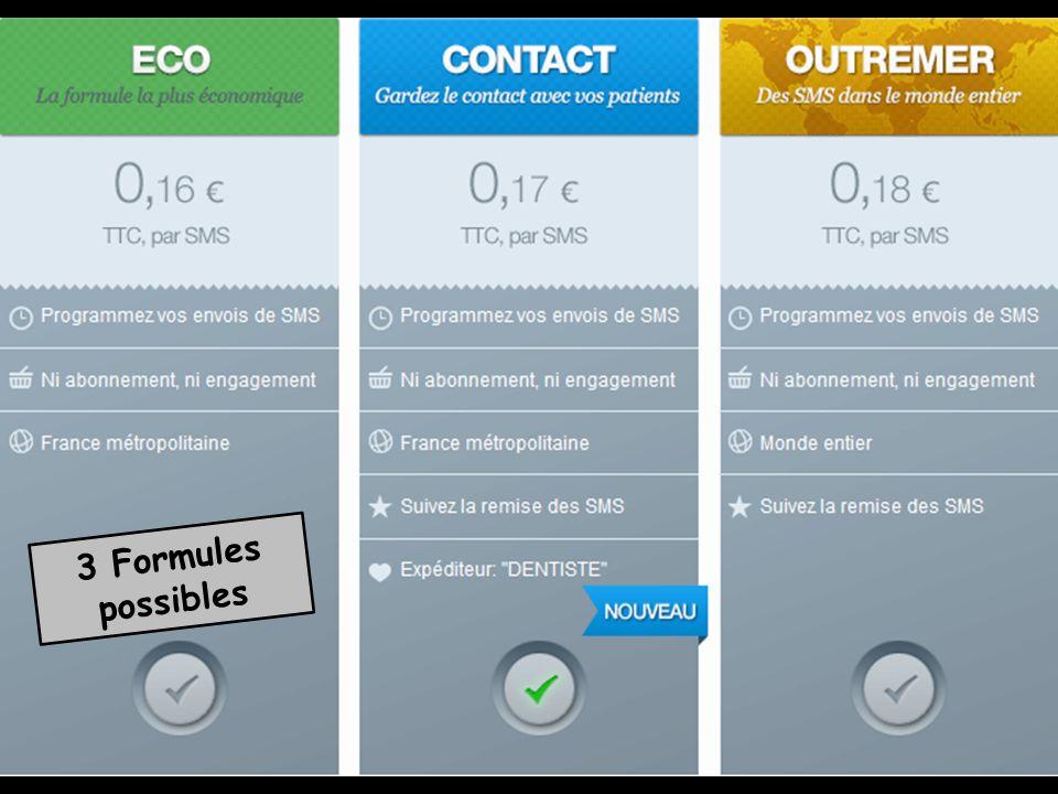 Envoi de SMS à partir de lagenda (grand ou mini) Un bouton SMS permet denvoyer Un SMS de rappel de RDV à tous les patients de la journée sélectionnée Voir fichier Agenda – Envoi SMS à partir de lagenda