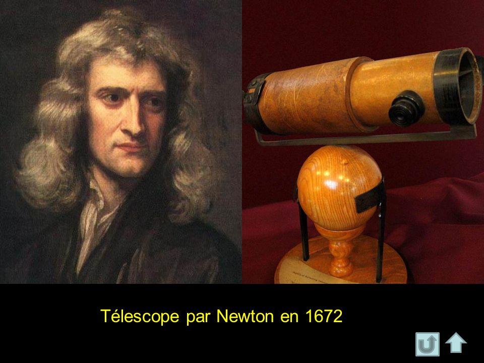 Télescope par Newton en 1672