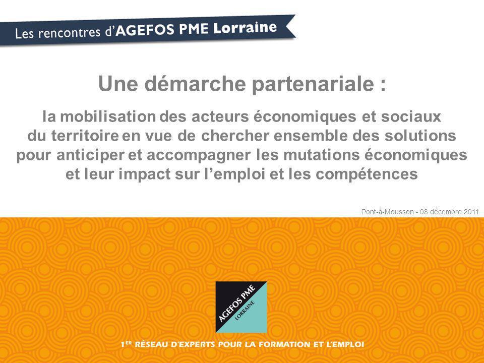 Une démarche partenariale : la mobilisation des acteurs économiques et sociaux du territoire en vue de chercher ensemble des solutions pour anticiper et accompagner les mutations économiques et leur impact sur lemploi et les compétences