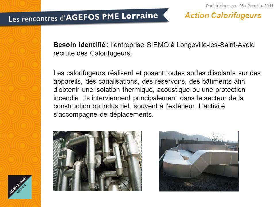 Besoin identifié : lentreprise SIEMO à Longeville-les-Saint-Avold recrute des Calorifugeurs.