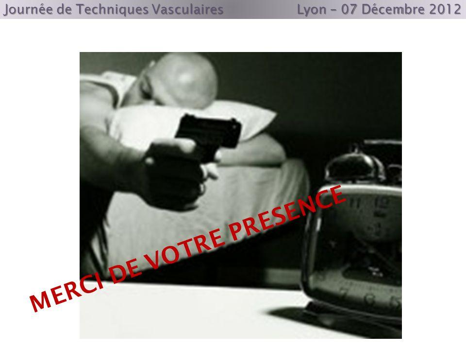 Journée de Techniques Vasculaires Lyon – 07 Décembre 2012 MERCI DE VOTRE PRESENCE