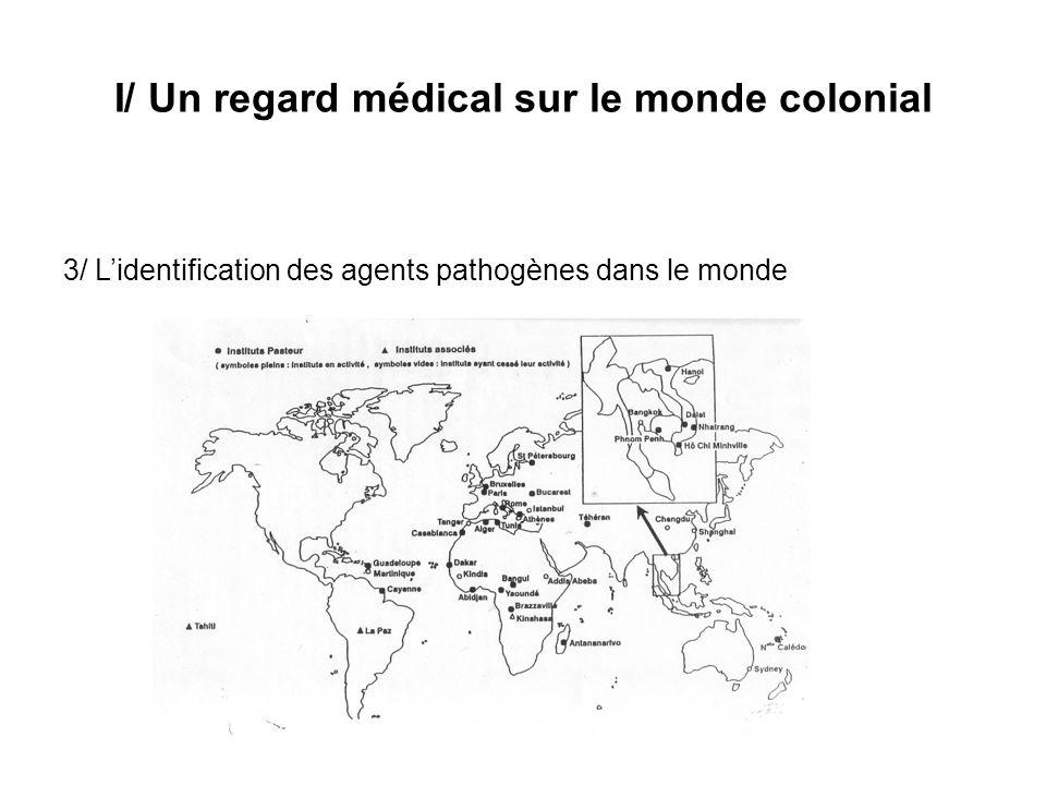 I/ Un regard médical sur le monde colonial 3/ Lidentification des agents pathogènes dans le monde
