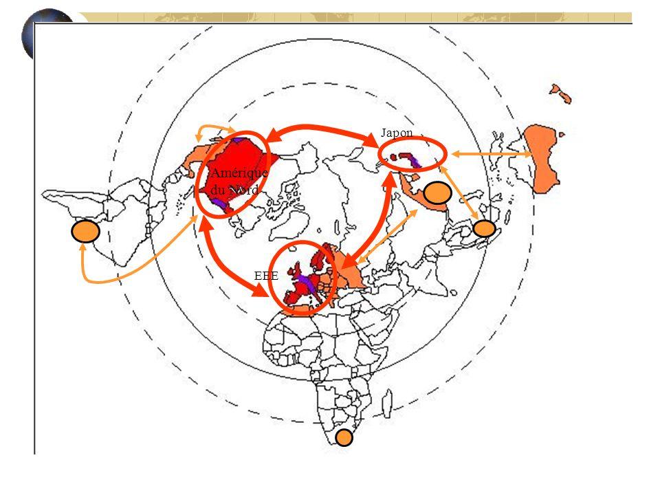 II--- qui structurent des périphéries A – Une périphérie associée dynamisée par la proximité du Centre elle génère des relais vers le Centre : zone da