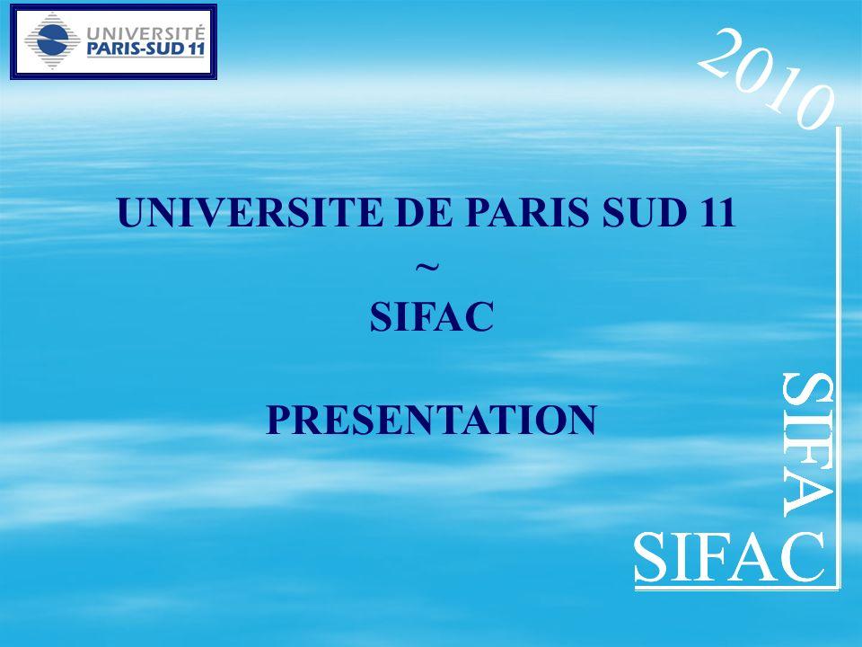 SIFAC SIFA UNIVERSITE DE PARIS SUD 11 ~ SIFAC PRESENTATION SIFA SIFAC SIFA 2010