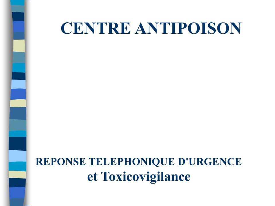 Organisation des Centres antipoison Français n En 1996 : 13 Centres Anti-Poisons n Nouveau décret : n° 96-833 du 17 Septembre 1996 Ce décret défini les missions et moyens des centres antipoison (dossier de demande dagrément, décision ministérielle dans un délai dun an).