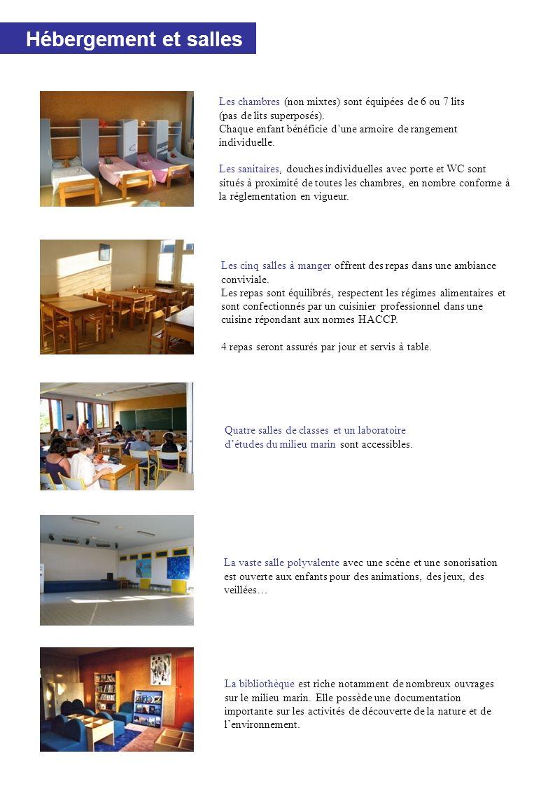 Hébergement et salles Les cinq salles à manger offrent des repas dans une ambiance conviviale.
