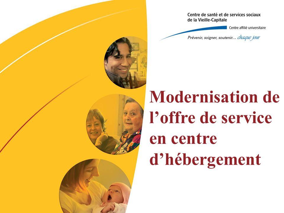 Modernisation de loffre de service en centre dhébergement