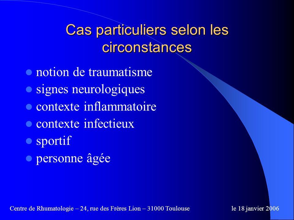 Centre de Rhumatologie – 24, rue des Frères Lion – 31000 Toulousele 18 janvier 2006 La capsulite rétractile