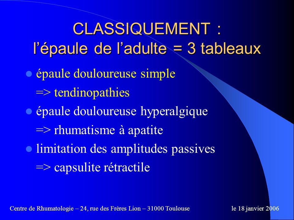 Centre de Rhumatologie – 24, rue des Frères Lion – 31000 Toulousele 18 janvier 2006 La pièce à main Application contrôlée (indicateur de force) Applicateurs spécifiques selon le traitement ( 6 ou 15 mm )