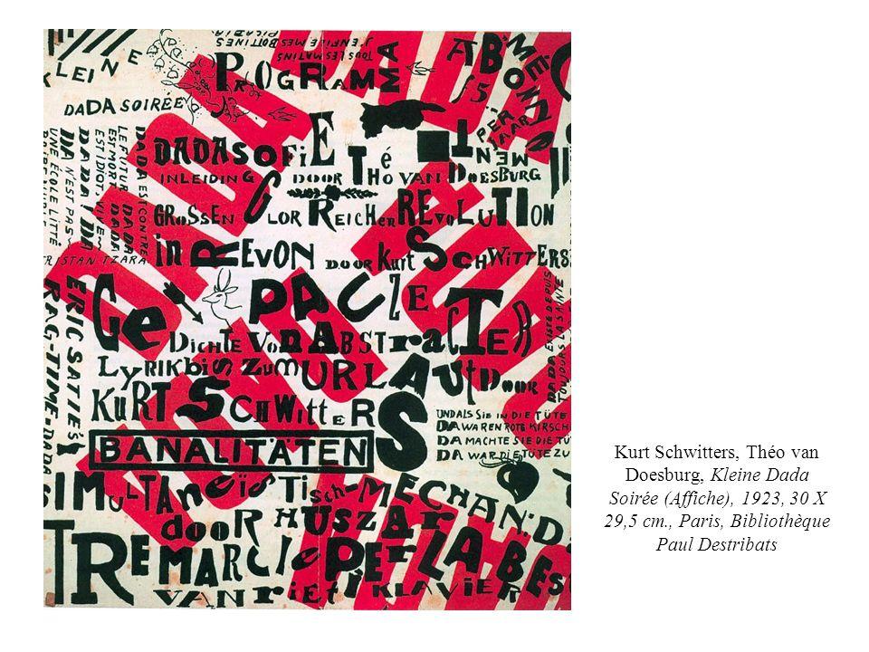 Kurt Schwitters, Théo van Doesburg, Kleine Dada Soirée (Affiche), 1923, 30 X 29,5 cm., Paris, Bibliothèque Paul Destribats