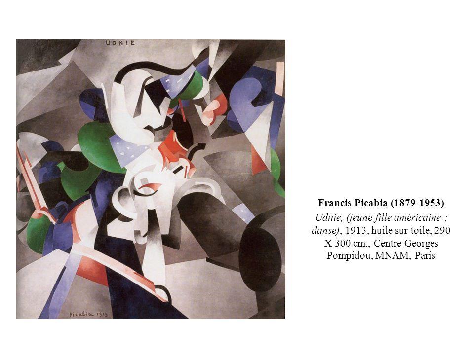 Francis Picabia (1879-1953) Udnie, (jeune fille américaine ; danse), 1913, huile sur toile, 290 X 300 cm., Centre Georges Pompidou, MNAM, Paris