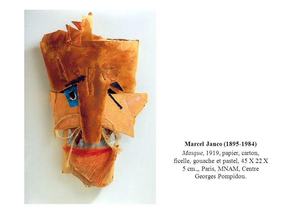 Marcel Janco (1895-1984) Masque, 1919, papier, carton, ficelle, gouache et pastel, 45 X 22 X 5 cm.,, Paris, MNAM, Centre Georges Pompidou.