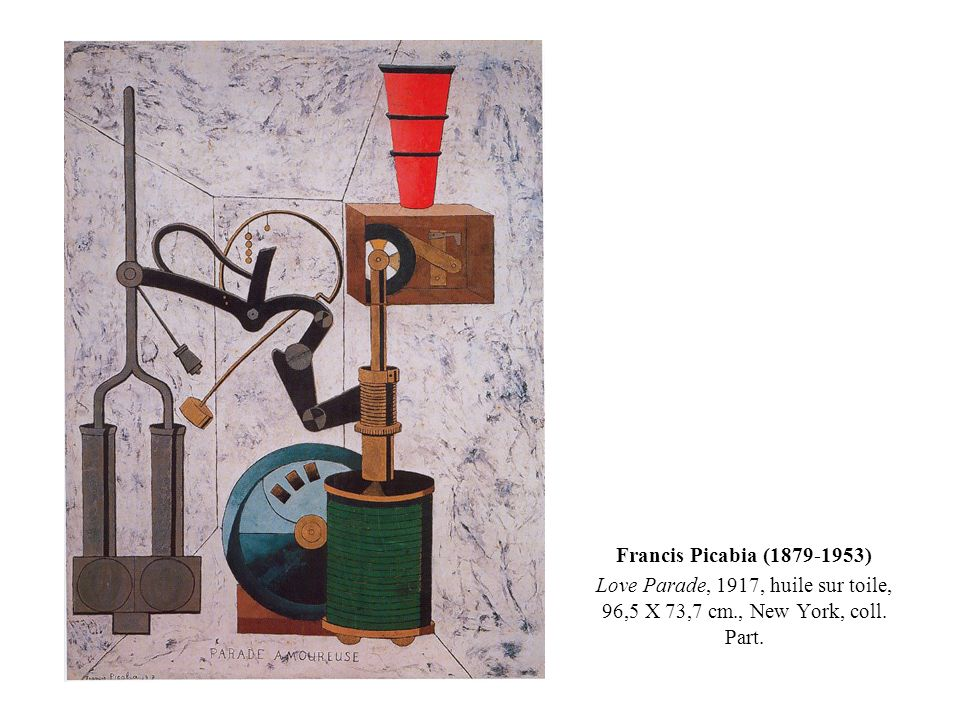 Francis Picabia (1879-1953) Love Parade, 1917, huile sur toile, 96,5 X 73,7 cm., New York, coll. Part.